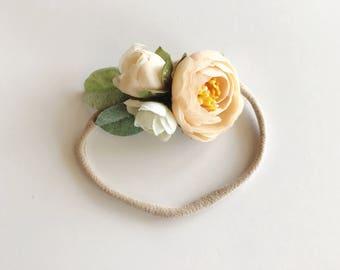 MINI flower crown: light apricot
