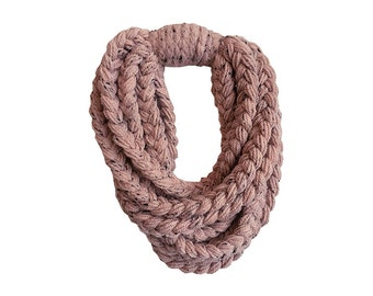scarf braided loop hippie wool rose braided  winter accessories hippieaccessoire bohoscarf