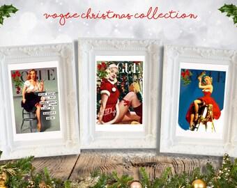 CHRISTMAS! Vogue Pinup Vintage Frame Collection - Set of 3