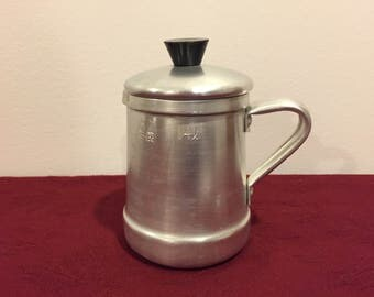 Kettle, Tea Pot, Tea Kettle, Coffee Pot, Mini Mid-Century Kettle or Pitcher, 1/4 liter, Roshedo