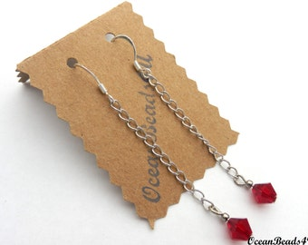 Red Swarovsky Crystals Earrings