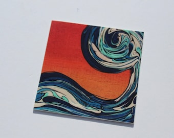Ocean Wave Vinyl Sticker