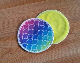 PUL outer breast pads - bamboo hemp fleece nursing pads - breastfeeding pads - cotton velour breast pads - washable - reusable pads -