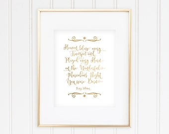 Heaven  blew every  trumpet  and  played every horn  on the wonderful,  marvelous night  you were born -   Nancy Tillman - Real Foil Print