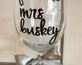 Future Mrs personalized Wine Glass