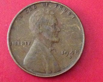 1948 S Lincoln Wheat Cent - VF
