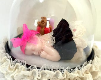 Gift idea/miniature/model/baby/fimo/tutu/decoration/decoration table/birth/customizable/baptism/baby shower/birthday