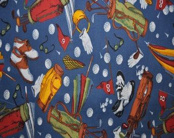 Golf Cotton Fabric (By The Yard)