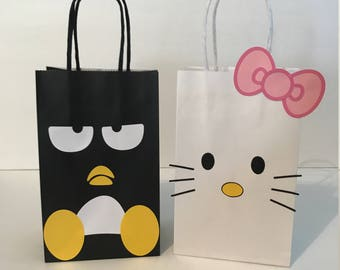 Hello Kitty and Badtz Maru Birthday Party Favor Bags