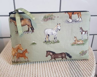 Macower Pony fabric cosmetic bag