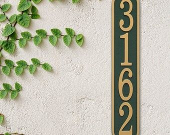 Vertical Cast Address Plaque, Ships in 4 days!