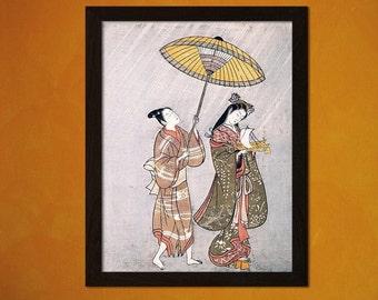 FINE ART REPRODUCTION Japanese Art Print Komachi Praying For Rain 1765 Amagoi Komachi Ukiyo-e Fine Art Print Retro     Design(243791040)