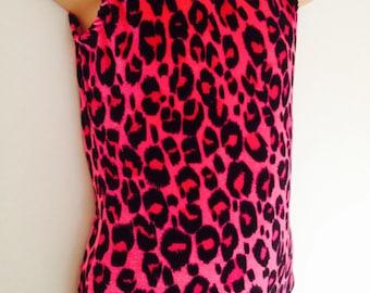 Gymnastics Dance Leotard Pink Cheetah Flintstones :)