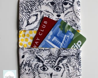 Card Case - ID Case - Card Holder Animals // Handmade