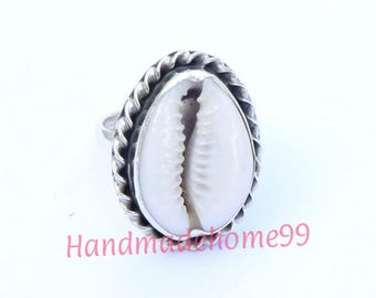 Cowrie Shell Ring   Sterling Silver Ring   Mermaid Ring   Seashell Ring   Nautical Jewelry
