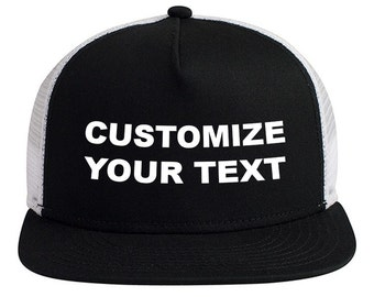 Design your own Trucker Hat with custom text!
