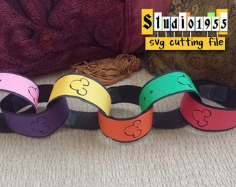 SVG cutting file for paper chain