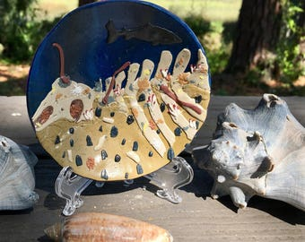 Whale fall dish / ring dish / trinket dish / key dish / jewlery dish / middle size