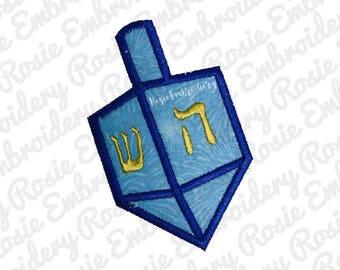 Applique Simple Hanukkah Dreidel Machine Embroidery Design Instant Download Digital Pattern- Spinng Top Toy Winter Holiday Chanukkah - RE60