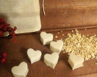 Heart shaped Oatmilk and honey body sugar cubes