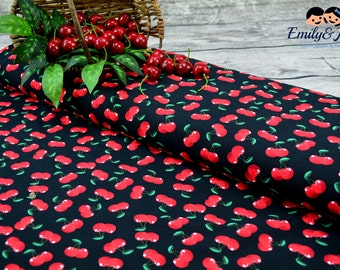 Jersey CHERRY LOVE black red