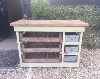 Handmade Larder Unit with Vintage Apple Crates