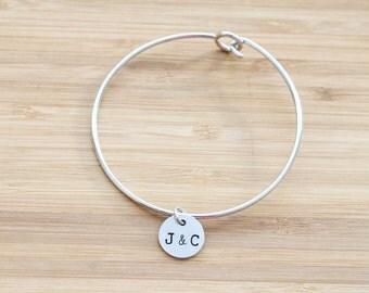 hand stamped charm bracelet | custom