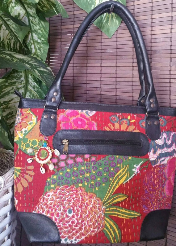 Dream catcher kantha bag|kantha shoulder bag|ethnic bag|ethnic purse|shoulder bags|hippie bag|Tote bag|everyday purse|large handbag