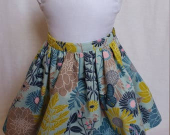 American Girl Skirt Blue Print