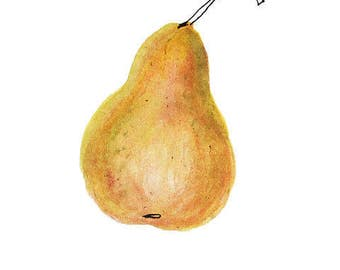 Post good PEAR natural • squirt on cotton paper