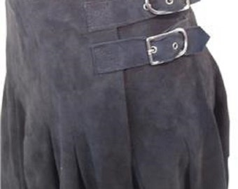 Donald J  Pliner Black Reindeer Leather lovely wrap around skirt is full of style with eyelets.