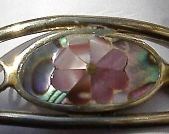 1980S BRACELET VINTAGE ABOLONE shell inserts