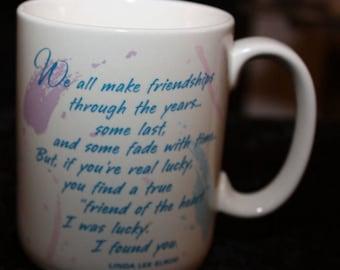 Vintage Hallmark Friendship Mug 1988