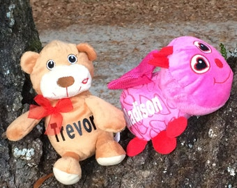 Personalized Valentine's Day plush