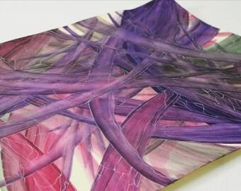 Best Friend Gift Mood Jungle mom Gift Palm tree Canvas Art Flowers Watercolours Watercolors Paintings Original 50 x 70cm OOAK