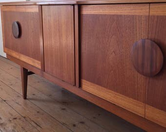 Vintage Retro Mid Century Beautility Teak Sideboard with Integral Drinks Cabinet