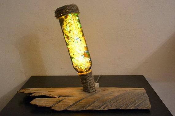 Wine bottle lights wine bottle lamp recycled bottle lights - Lamparas de pie artesanales ...
