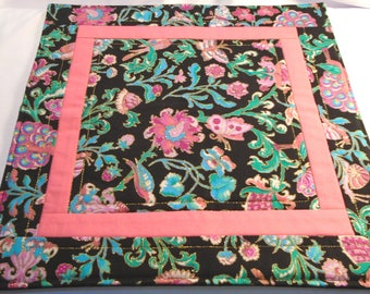 Mystic garden handmade quilted altar mat, altar cloth pagan, witch, Wicca Faerie