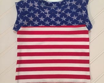 Patriotic Color Block Tank
