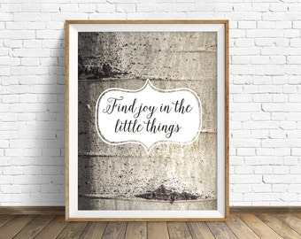 """nature photography, quote art, instant download printable art, digital download, art print, nature print, aspen tree  - """"The Little Things"""""""