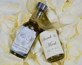 Organic Infused Olive Oil Wedding Favors