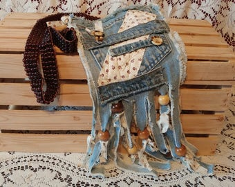 Handmade purse in jeans / Handmade Purse with old jeans