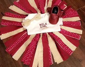 FSU Baby, FSU Onesie, FSU Baby Outfit, Florida State Seminoles, Noles Baby, Baby Shower Gift, Nole Girl Tutu, Fabric Tutu