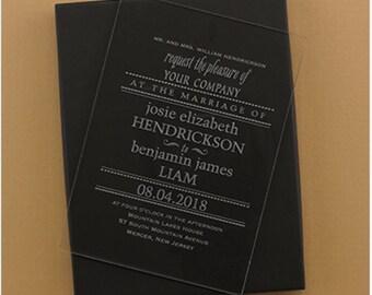 Acrylic Invitation