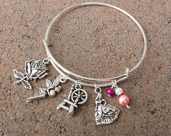 Disney Sleeping Beauty Aurora Charm Bracelet