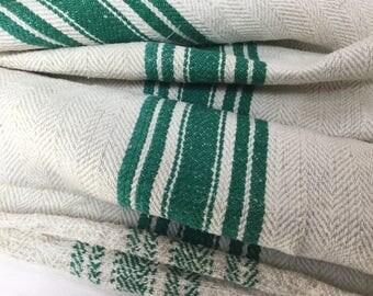 Vintage grain sack hemp / grain in old hemp bag