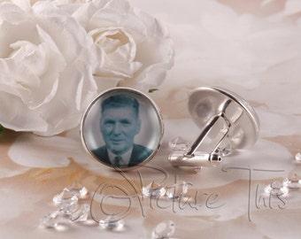 Custom Cufflinks, Photo Cufflinks, Mens Cuff links, Groom Cufflinks, Personalised Cuff links, Memorial Photo Cufflinks, Gift For Him.