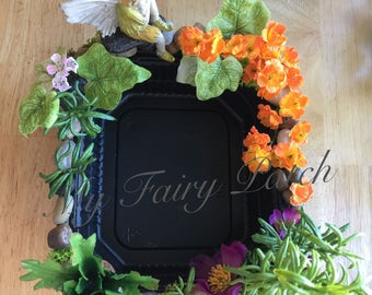 Miniature Fairy Pond, Handmade Miniature Pond, Fairy Garden Pond, OOAK Miniature Pond
