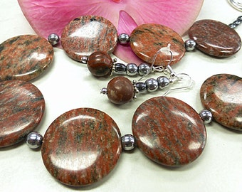 Red Jasper set in glorious format