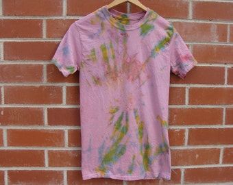 Pink Base Multicolor Tie Dye shirt